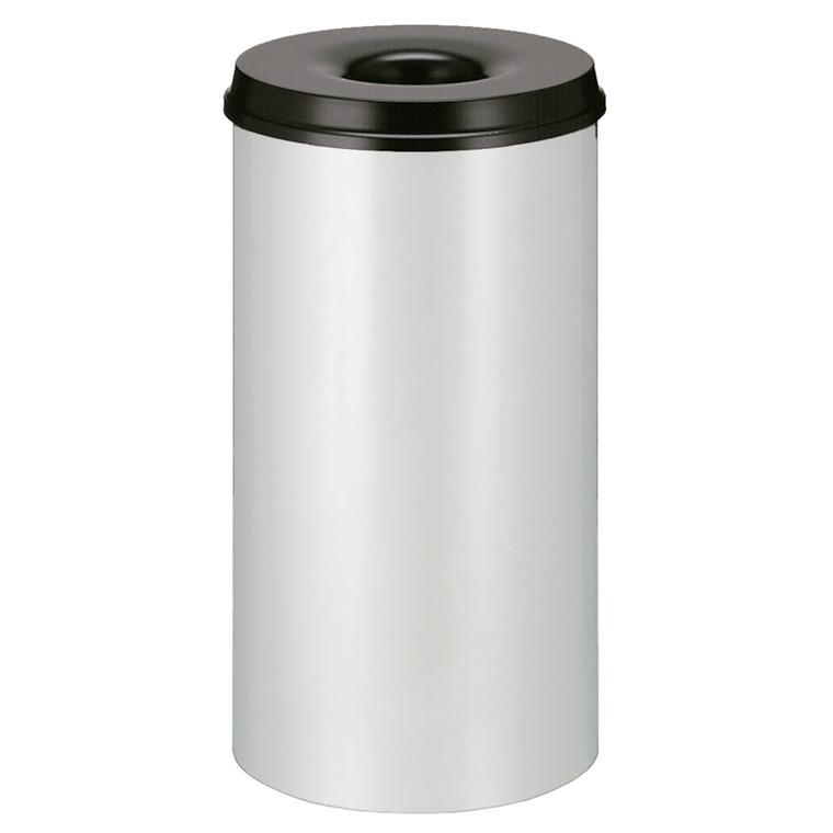 Affaldsspand, selvslukkende, grå og sort, 50 l