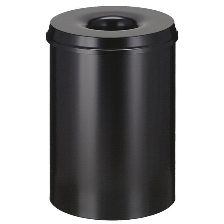 Affaldsspand, selvslukkende, sort, 30 l