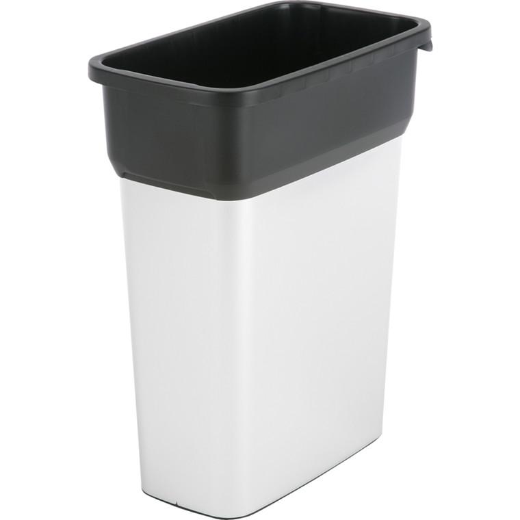Affaldsspand, Vileda Geo, stål og sort, 70 l