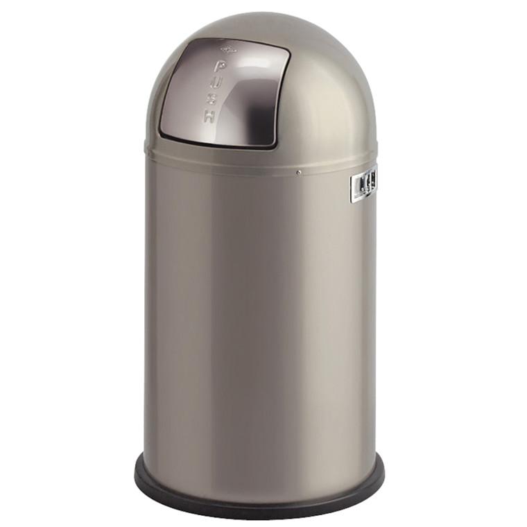 Affaldsspand, Wesco, med metal inderspand, brandsikker, aluminium grå, 50 l