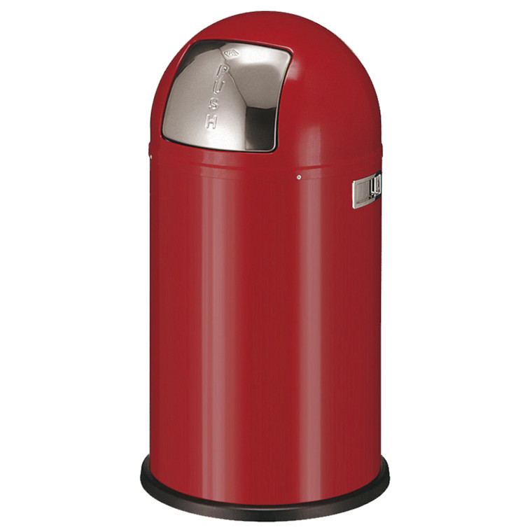 Affaldsspand, Wesco, med metal inderspand, brandsikker, rød, 50 l