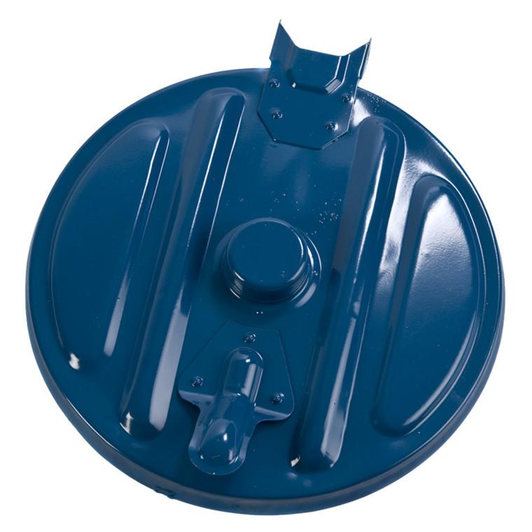 Affaldsstativ, sækkeholder, kildesortering mulig, galvaniseret og blå, 110 l