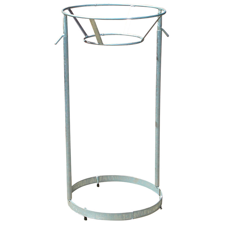 Affaldsstativ til returplastsæk i stål - eksklusiv poseholder