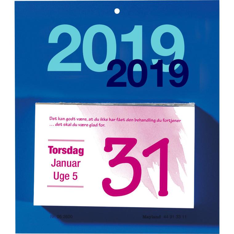 Afrivningskalender 2019 Mayland Humør 10 x 6,6 cm - 19260000