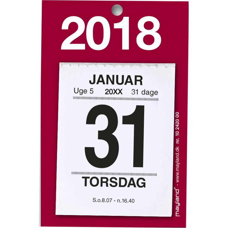 Afrivningskalender 2018 lille med bagsidetekst 5 x 6 cm - 18 2420 00