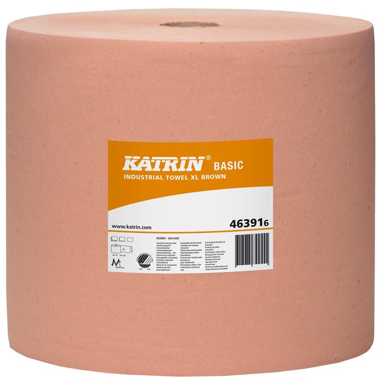 Katrin 463918 Basic XL Industri aftørringspapir brun 1 lags 32 cm - 1000 meter