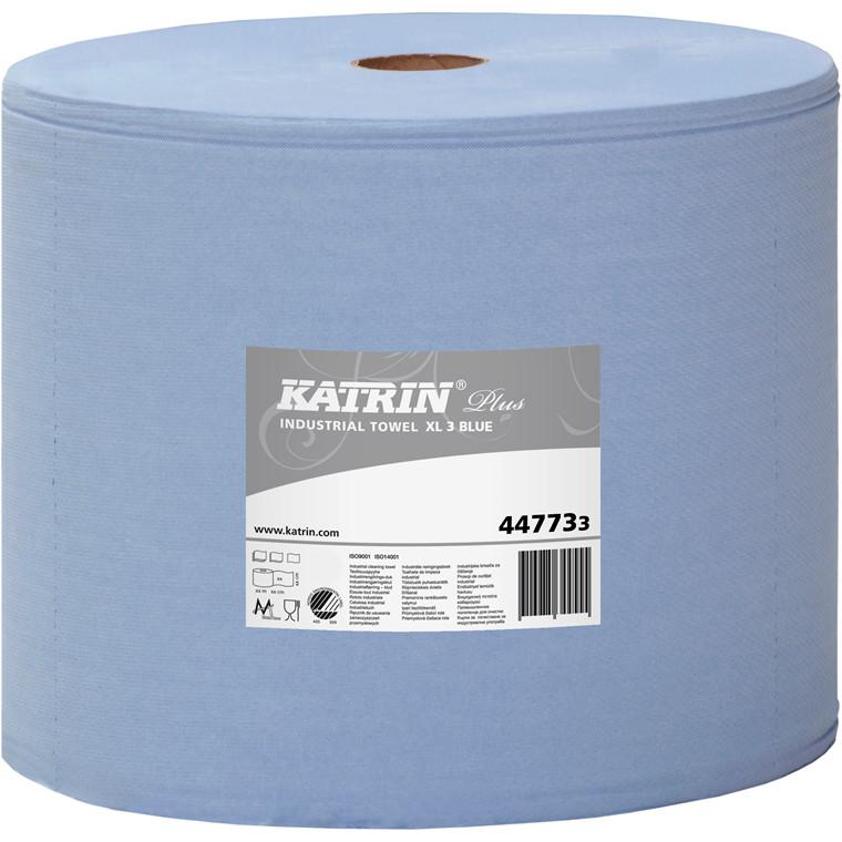 Katrin 447733 Plus XL3 Blå Aftørringspapir 3 lags 31 cm - 370 meter
