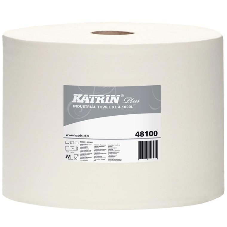 Katrin Plus 481009 Aftørringspapir XL 4 1000 - 26,5 cm x 360 meter - 1 rulle