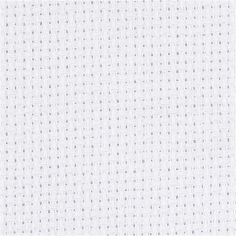 Aidastof, str. 50x50 cm, hvid, 52 tern pr. 10 cm, 1stk.