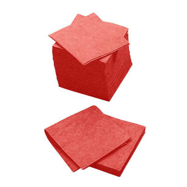 Røde Alt mulig klude Cleanline 38 x 38 cm 140 gram - 200 stk