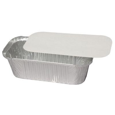 Alu-kartonlåg, hvid/sølv, til varenr. 5745, Karton m/Alu-belægning