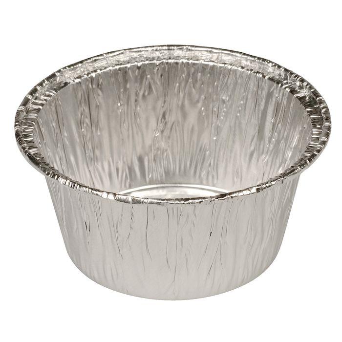 Aluform, rund, med rullekant, aluminium, 115 ml