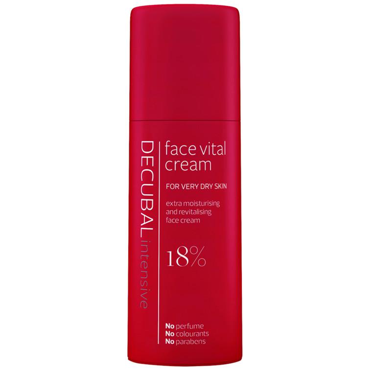 Ansigtscreme, Decubal Face, uden farve og parfume, 50 ml