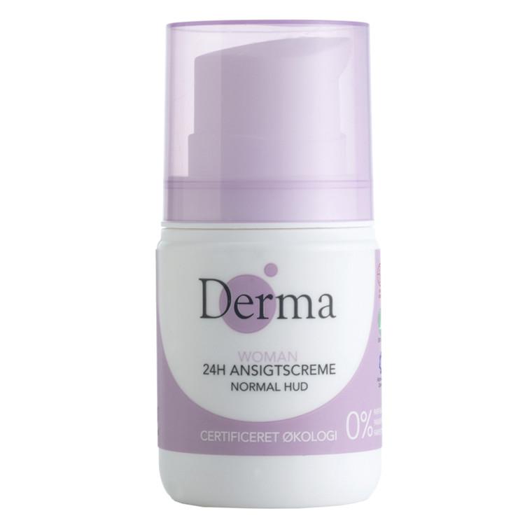 Ansigtscreme, Derma Eco Woman, 24h, normal/kombineret hud, 50 ml