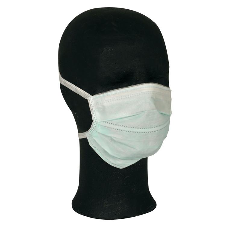 Ansigtsmaske, Barrier, med bindebånd, Type II, grøn,