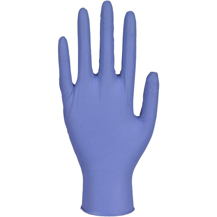 Antimicrobial undersøgelseshandske, Abena Excellent, S, blå, Pudderfri, mikroorganisme dræbende
