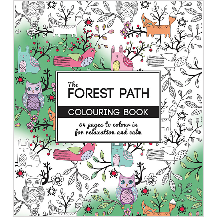 Antistress malebog, str. 19,5x23 cm, 64 sider, The Forest Path, 1stk.