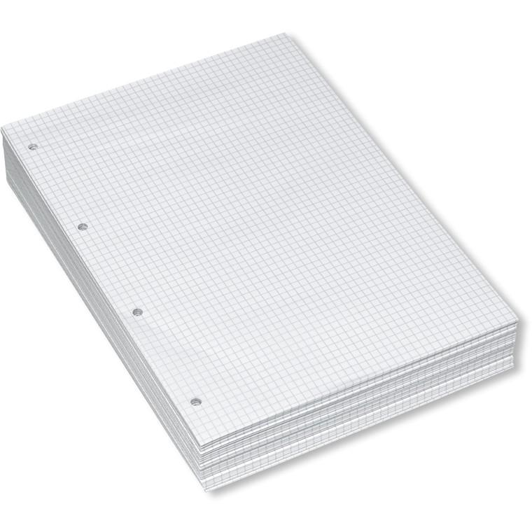 Arbejdsblade A4 med 5 mm tern og 4 arkivhuller i venstre side - løse ark