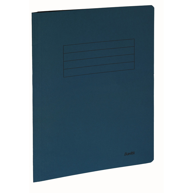 Dokumentmappe A4 Bantex blå med skrivefelt - 100090829