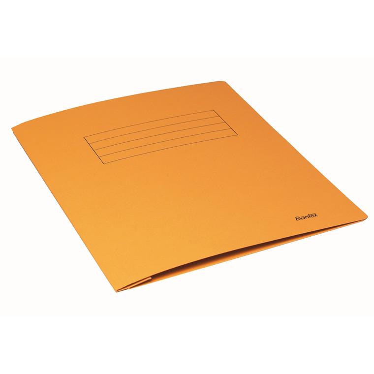 Bantex A4 Arbejdsmappe gul med skrivefelt - 100090832