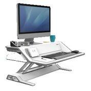 Arbejdsstation Fellowes Lotus DX Sit-Stand hvid, Microban