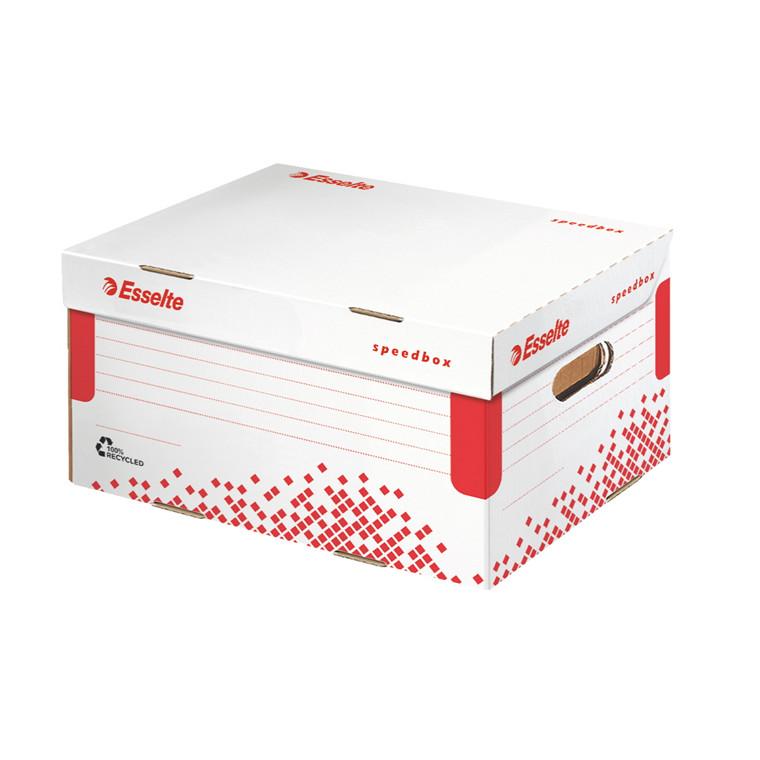 Arkivkasse Esselte Speedbox 35,5 x 19,3 x 25,2 cm - hvid
