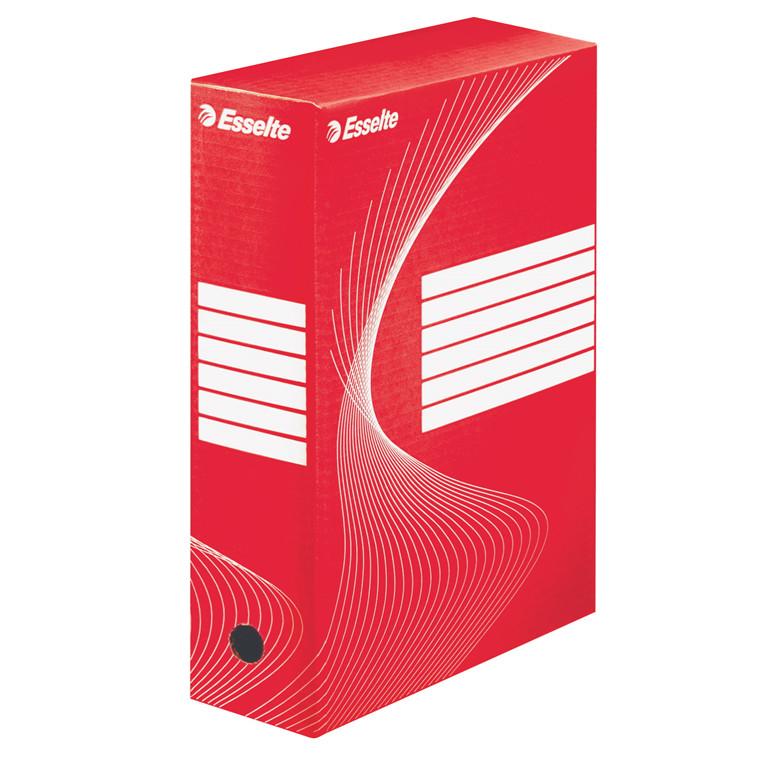 Arkivæske Esselte Vivida BOXY 24,5 x 34,5 x 10 cm - Rød med skrivefelter