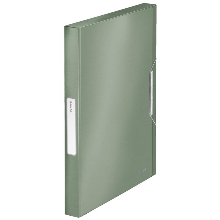 Leitz Style A4 Arkivmappe med elastik og 30 mm ryg grøn |  39560053