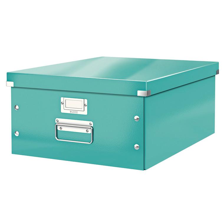 Arkivboks Leitz Click&Store WOW isblå large