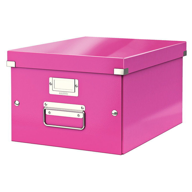 Opbevaringsboks Leitz Click & Store 28 x 20 x 37 cm - Pink