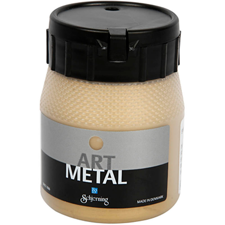 Art Metal maling, lys guld, 250ml