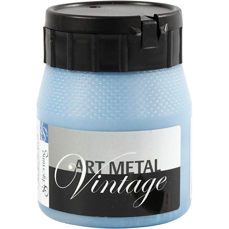 Art Metal maling, perleblå, 250ml