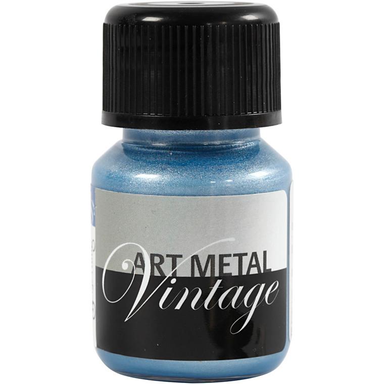 Art Metal maling, perleblå, 30ml