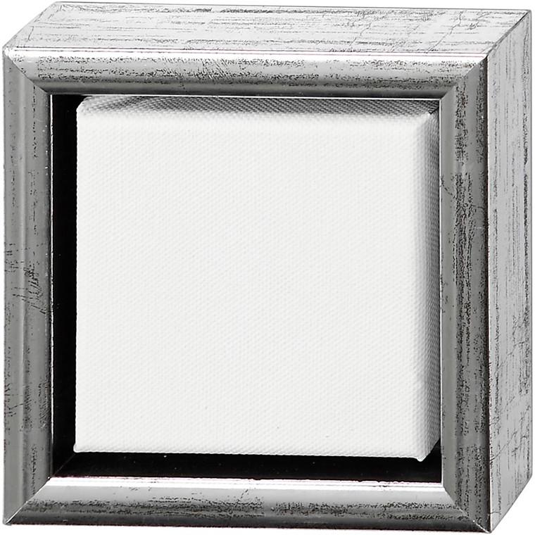 ArtistLine Canvas med ramme, udv. mål 14x14 cm, dybde 3 cm, Lærred str. 10x10 cm - 6 stk