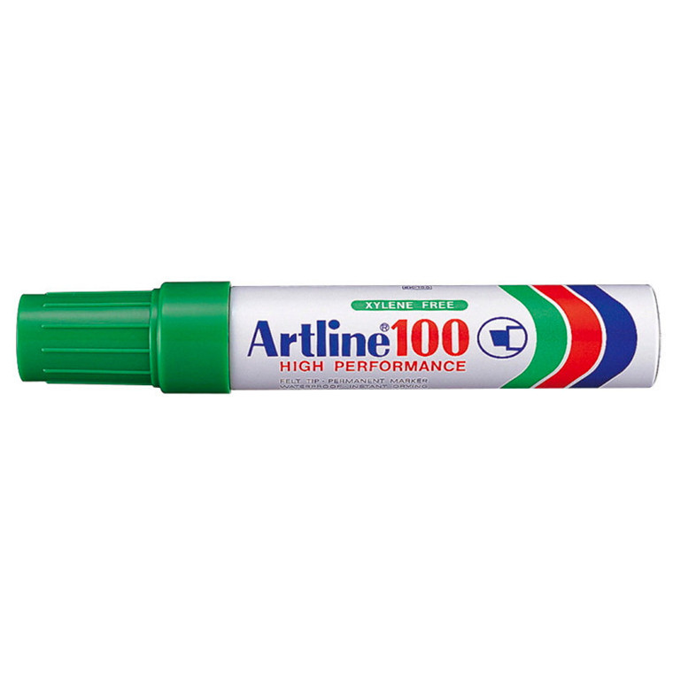 Artline 100 Jumbo Marker - Permanent grøn 7-12 mm firkantet spids