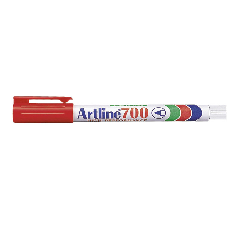 Artline 700 - Permanent rød marker 0,7 mm