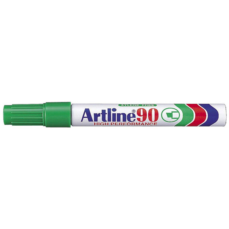 Artline 90 - Permanent grøn marker 2-5 mm firkantet spids