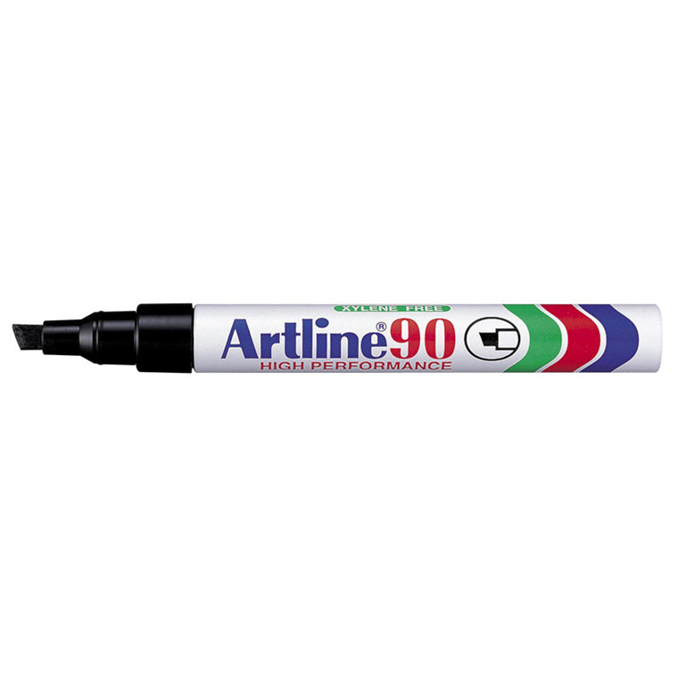 Artline 90 tus - Permanent sort 2-5 mm firkantet spids