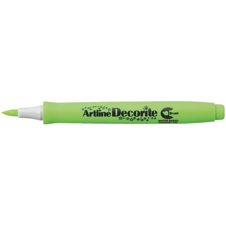 Artline Decorite Brush yellow green