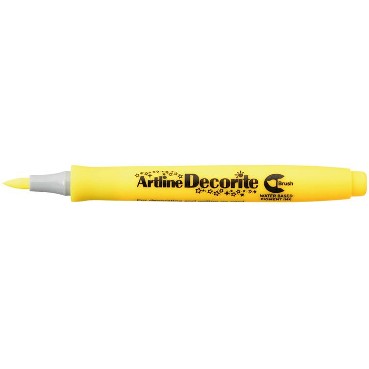 Artline Decorite Brush yellow