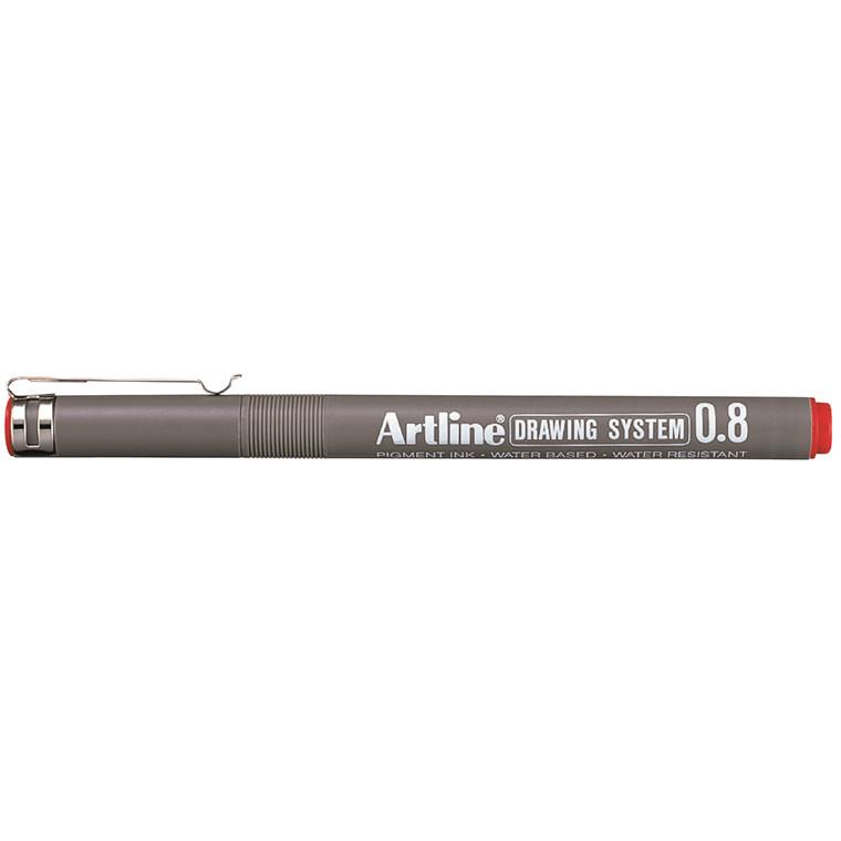 Artline Drawing System 0.8 rød