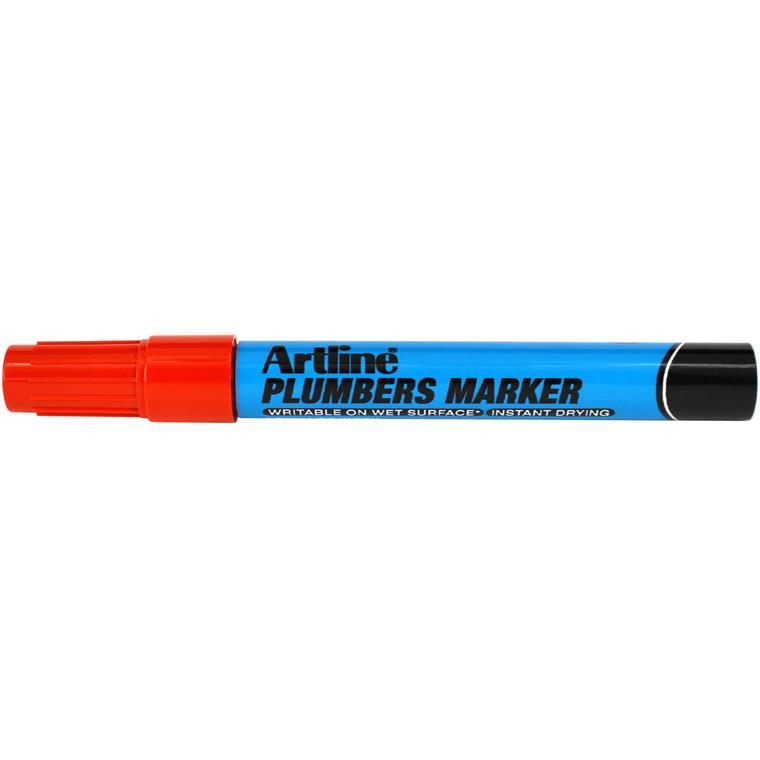 Artline plumbers marker red
