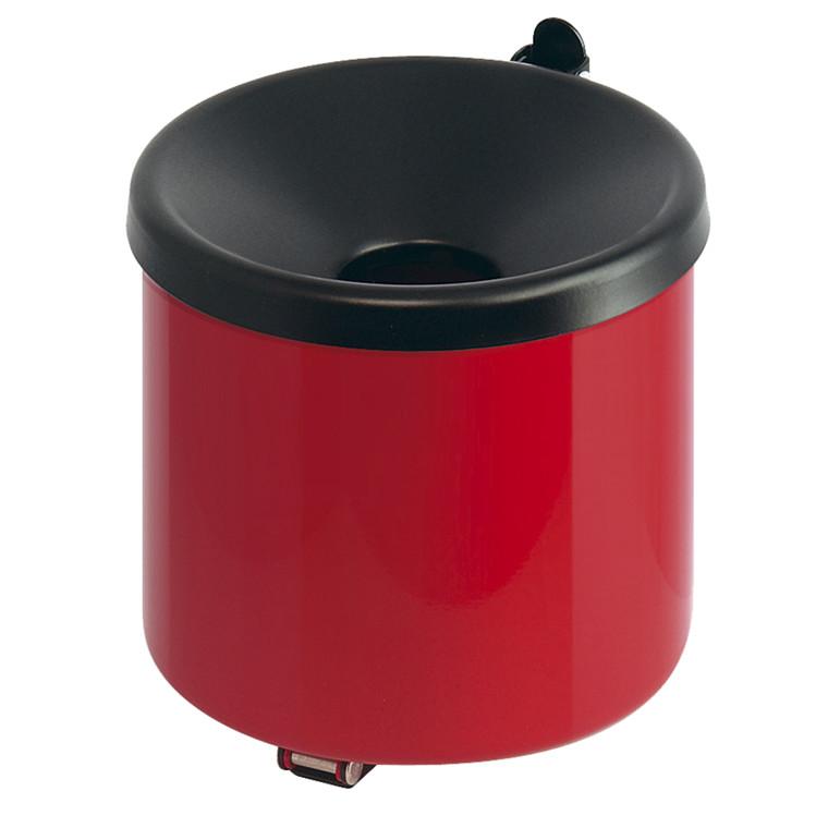 Askebæger, klar til vægmontering, brandsikker, rød og sort,