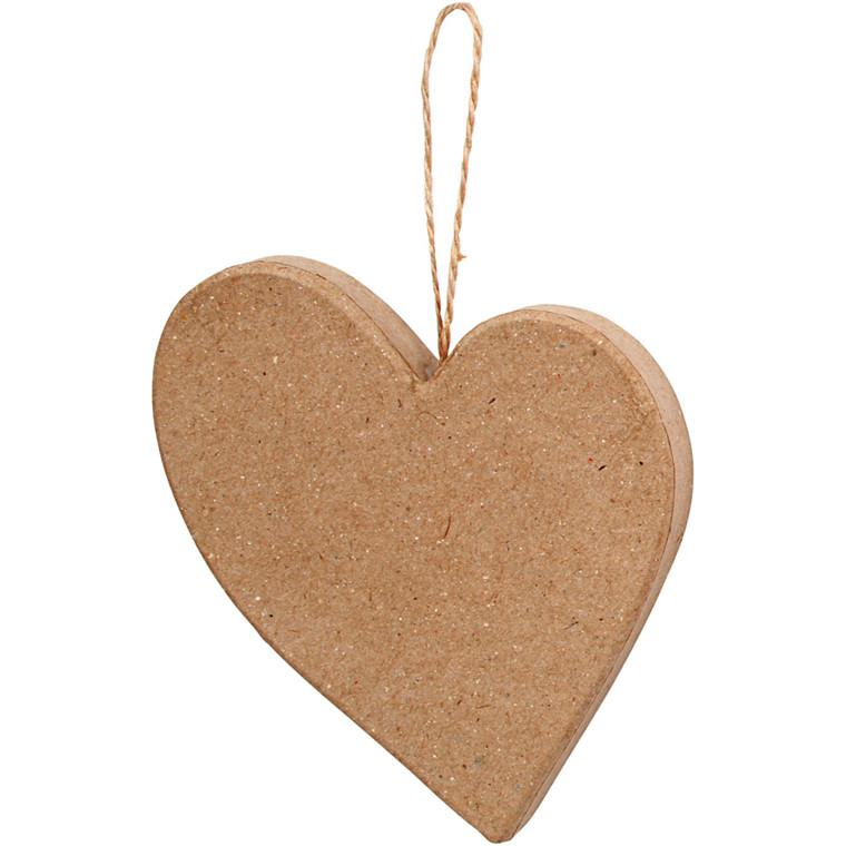 Asymmetrisk hjerte, H: 10,5 cm, 1stk.