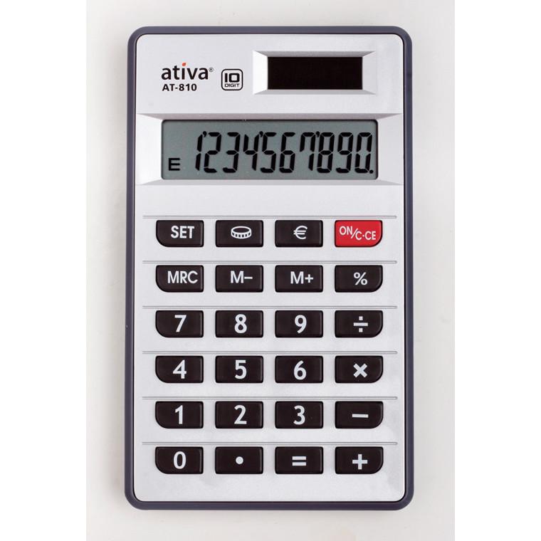 Ativa AT-810 Solar - Lommeregner med 10 cifre