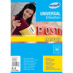 Avery 90903 - Universal labels 48,5 x 25,4 mm - 1200 stk