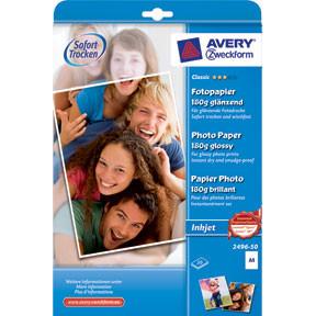 Avery - Foto papir A4 180 gram glossy inkjet - 50 ark
