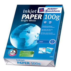 Avery Paper A4 bright white inkjet 100g (500)
