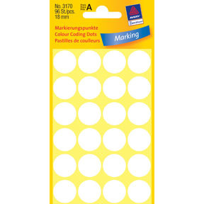 Avery 3170 Handwriting labels white Ø18 (96)