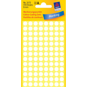 Avery 3175 Handwriting labels white Ø8 (416)